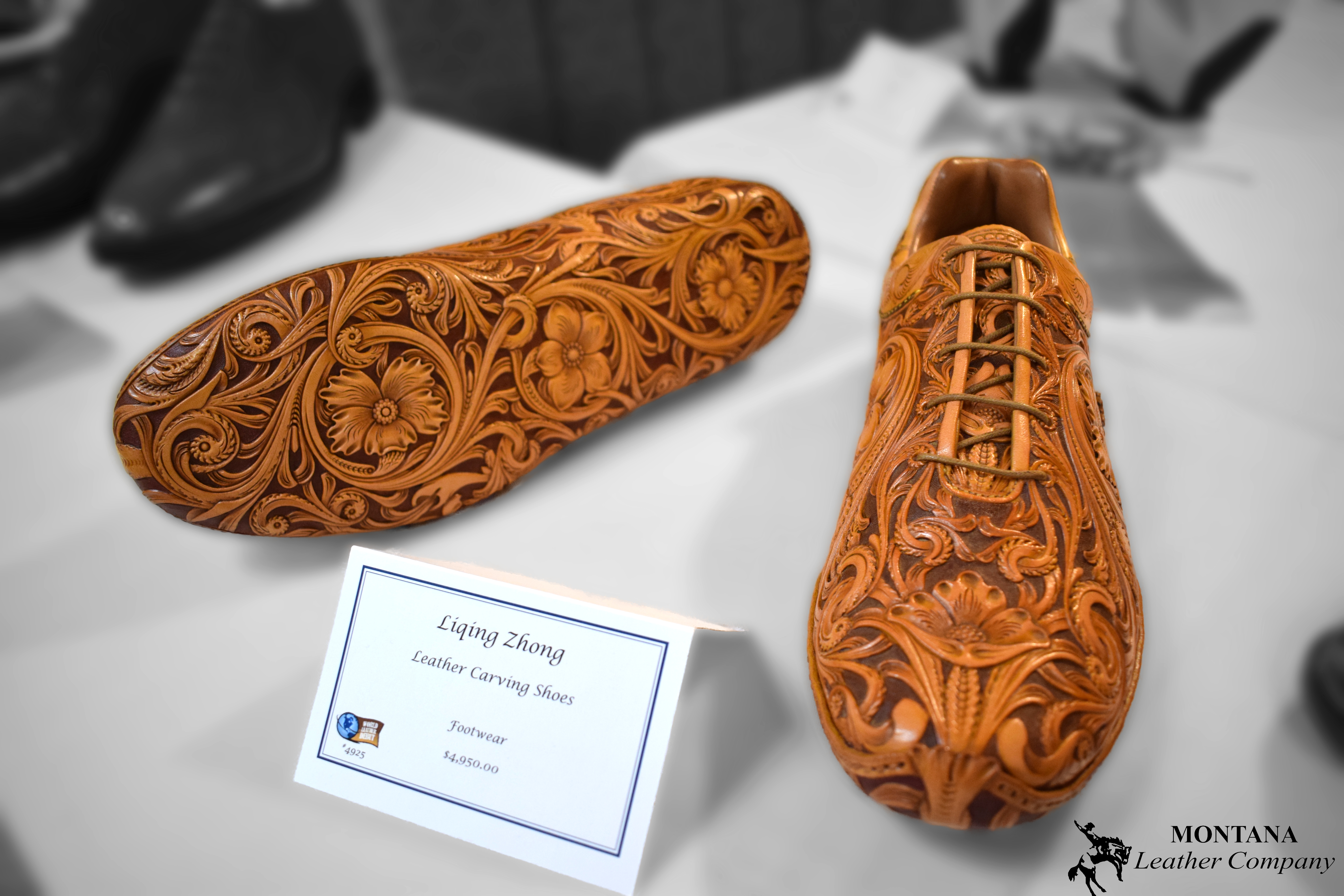 leather shoes, tooled shoes, hand crafted shoes