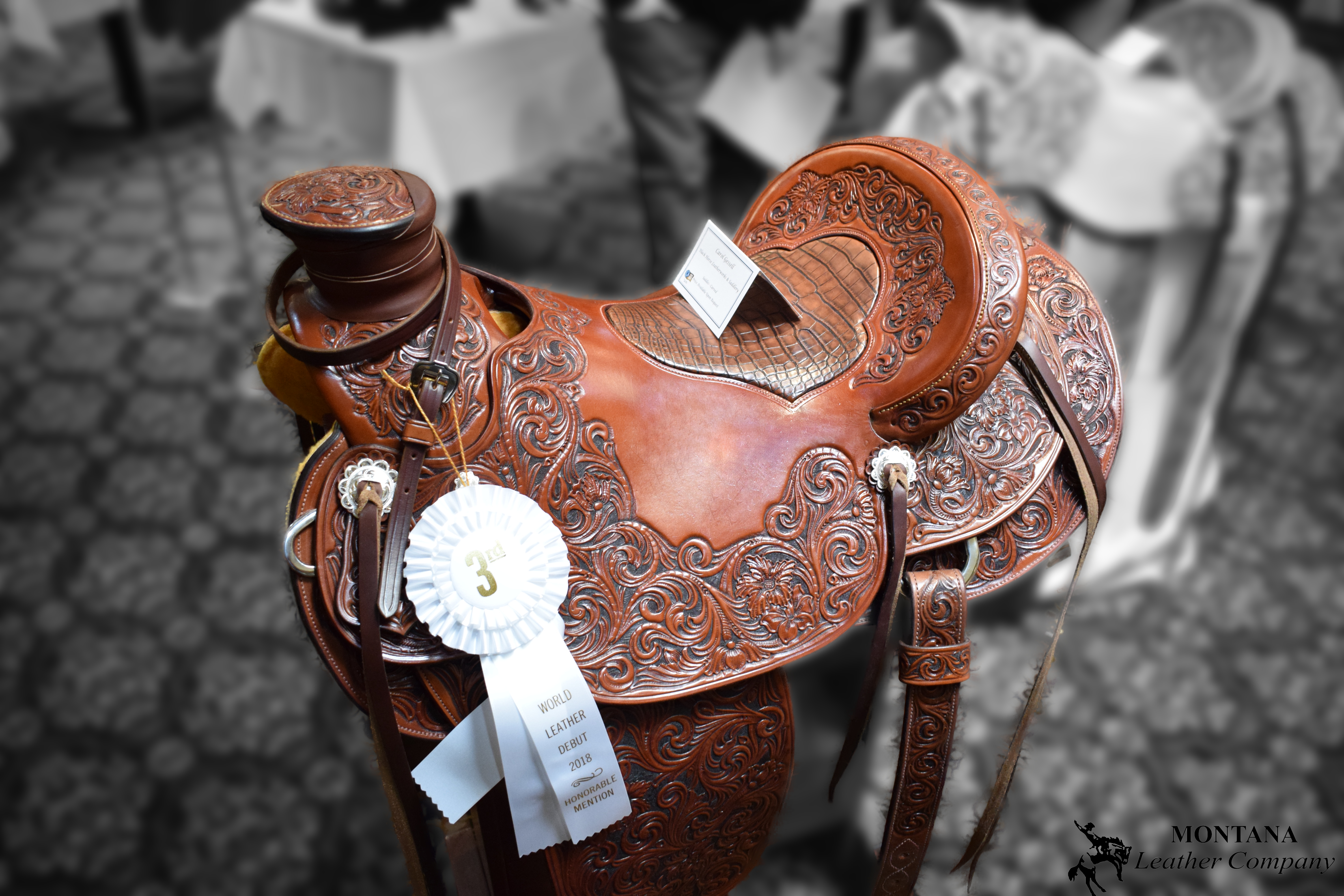 carved saddle, Carol Gessell saddle