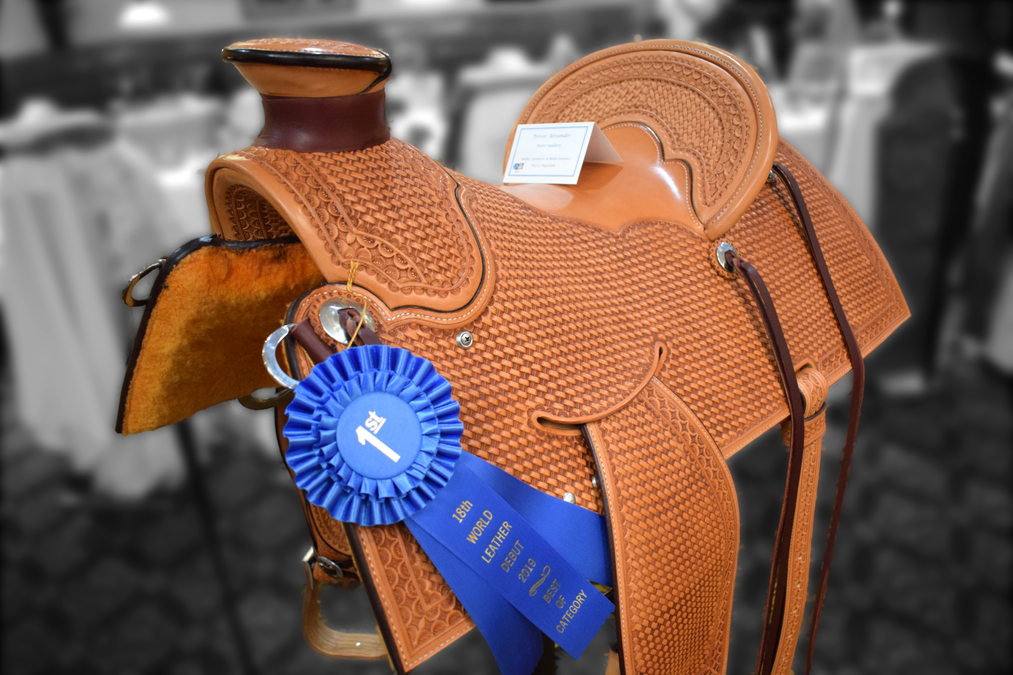 Basket Stamped Saddle - Trevor Alexander - Burns Saddlery