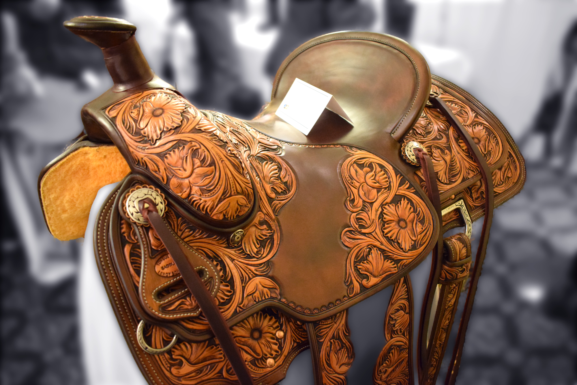 Carved Saddles - Leroy Schwarz - Tongue River Saddlery